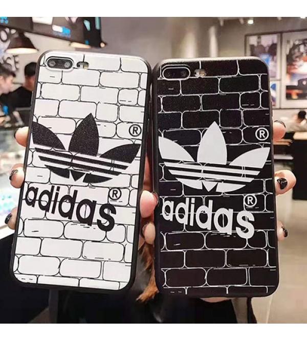 adidas アディダス iphone11/11 pro max/se2ケースブランド iphone xr/xs maxケース 運動風 アイフォン x/8/7 plusケース 個性潮流  男女兼用