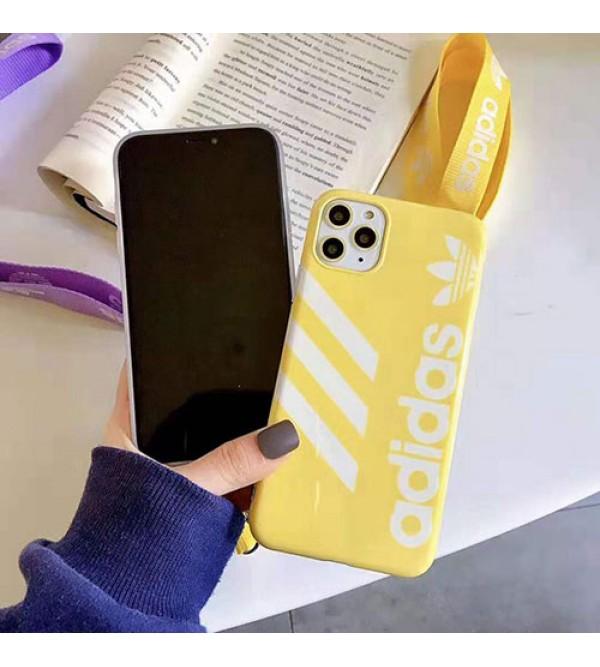 アディダス iphone11/11pro/11pro max/se2ケースお洒落スポーツ風 iphone xr/xs maxケースadidas iphone x/8/7ケース ソフトジャケット型 人気
