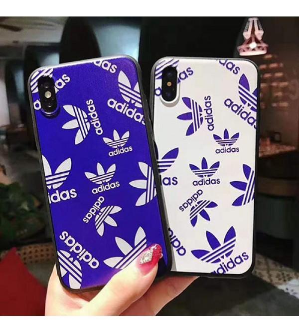 アディダス iphone11/11 pro max/se2ケース ブランド iphone xr/xs maxケース スポーツ風 iphone x/10/8/7 plusケース お洒落 ファッション経典 ADIDASアイフォン11ジャケットケース
