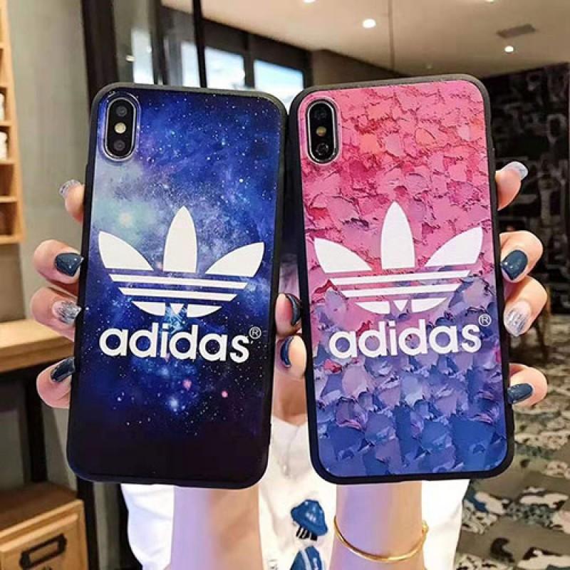 アディダス adidas iphone11/11 pro max/se2ケーススポーツ風 iphone xr/xs maxケース個性 アイフォン x/8/7 plusケースお洒落人気 男女兼用