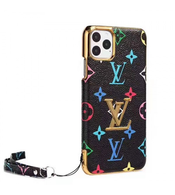 iPhone12mini/12 pro/12 pro max/12 ケースルイヴィトン iphone11/11pro max/se2ケースブランド iphone xr/xs maxケース お洒落大人気 iphone x/8/7ケース高級ファッションストラップ付き