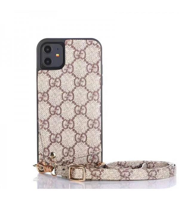 ルイヴィトンiphone 12ケースグッチ iphone11/11 pro max/se2ケース ブランド ビジネス風 iphone xr/xs maxケース 背面カード入れ iphone x/8/7 plusケース ファッションお洒落ストラップ付き