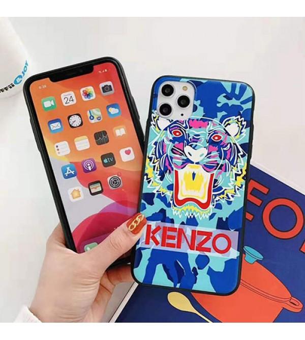 iphone 12ケースKENZO ケンゾー iphone se2/11/11pro maxケースブランド iphone xr/xs maxケース虎頭付きiphone x/8/7ジャケットケース男女兼用 ファッション人気