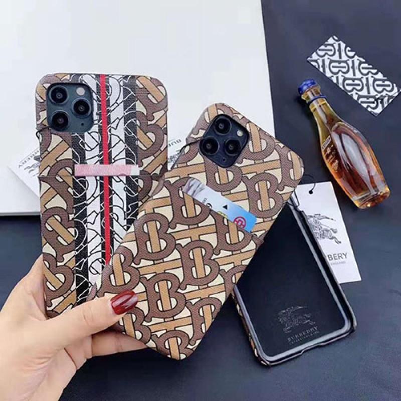 Burberry バーバリー iphone11/11pro max/se2ケースブランド iphone xr/xs maxケース Galaxy s10/note10 plusケース 背面カードポケット付き iphone x/8/7 plusケース ファッション経典