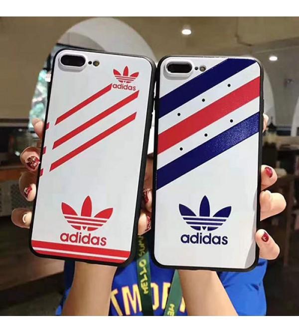 iphone 12ケースアディダスiphone11/11 pro max/se2ケース ブランド iphone xr/xs maxケースadidas 運動風iphone x/8/7 plusケースオシャレ三つ葉 潮流ファッション