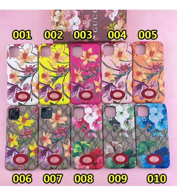 グッチ iphone11/11pro max/se2ケース ブランド iphone xr/ xs maxケース 花柄gucci Galaxy s10/note10/s9ケースアイフォンx/8/7 plusケース ファッションオシャレ 女性向け人気