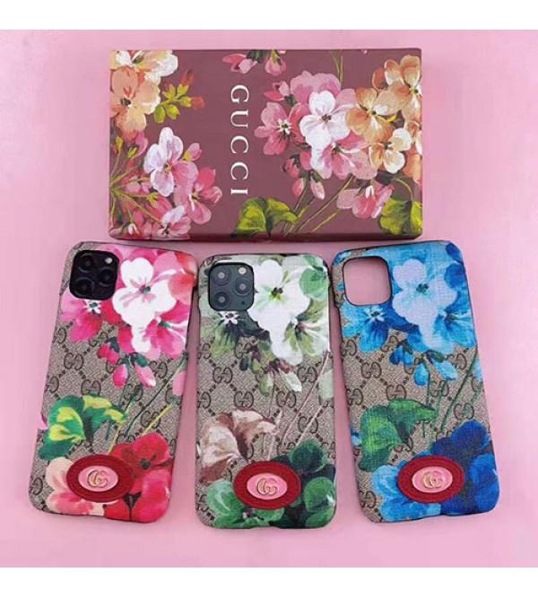 iphone 12ケースグッチ iphone11/11pro max/se2ケース ブランド iphone xr/ xs maxケース 花柄gucci Galaxy s10/note10/s9ケースアイフォンx/8/7 plusケース ファッションオシャレ 女性向け人気