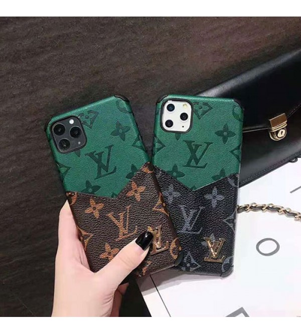 iphone 12 ケースルイヴィトンlv iphone11/11 pro max/se2ケース 背面カード入れ アイフォンxr/xs  maxケースオシャレ混色 iphone x/8/7 plusケース女性向け人気