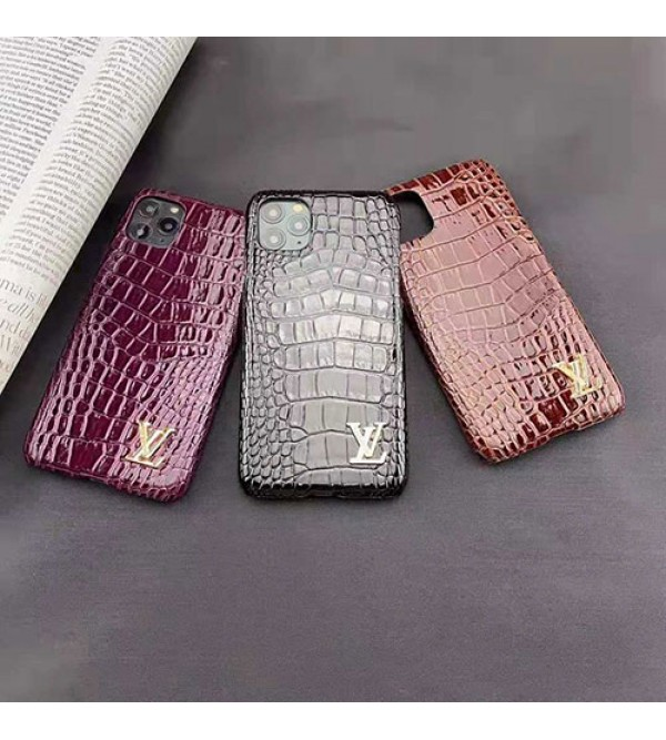 ルイヴィトンiphone11/11pro max/se2ケースブランド iphone xr/xs/xs max/xケース ワニ紋革製Galaxy s10/note10/s9+ケース 高級お洒落 iphone 8/7 plusケース男女兼用