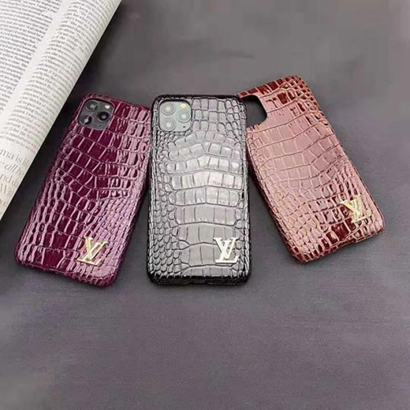 iphone 12 ケースルイヴィトンiphone11/11pro max/se2ケースブランド iphone xr/xs/xs max/xケース ワニ紋革製Galaxy s10/note10/s9+ケース 高級お洒落 iphone 8/7 plusケース男女兼用