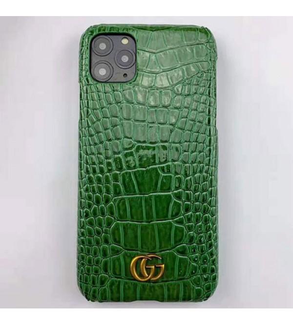 グッチ iphone11/11pro max/se2ケース ブランド iphone xr/xs  maxケース高級ワニ紋レザー製 gucci Galaxy s10/s9/note10/s8ケースジャケットiphone x/8/7 プラスケース人気お洒落