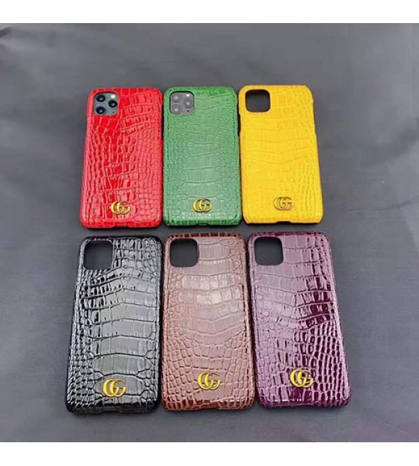 iphone 12 ケースグッチ iphone11/11pro max/se2ケース ブランド iphone xr/xs  maxケース高級ワニ紋レザー製 gucci Galaxy s10/s9/note10/s8ケースジャケットiphone x/8/7 プラスケース人気お洒落