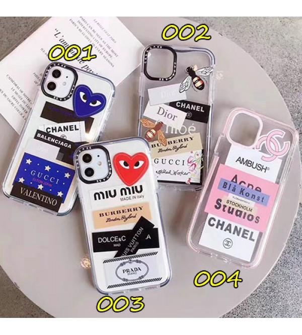iphone 12 ケースシャネルグッチ iphone11/11pro max/se2ケースブランドディオール iphone xr/xs maxケース個性タグ付き iphone x/8/7ケース透明ジャケット型 ファッション人気