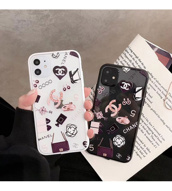 シャネル iphone11/11pro/11pro max/se2ケース お洒落小香風 iphone xr/xs maxケースchanel iphone x/8/7 plusケース透明ジャケット型 個性 女性向け
