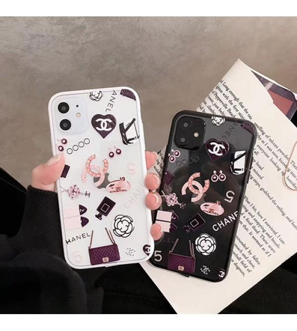 iphone 12 ケースシャネル iphone11/11pro/11pro max/se2ケース お洒落小香風 iphone xr/xs maxケースchanel iphone x/8/7 plusケース透明ジャケット型 個性 女性向け