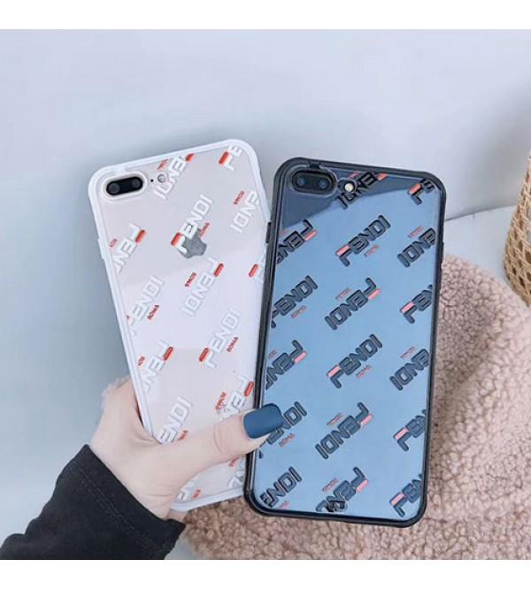 フェンデイ iphone11/11pro max/se2ケースブランド FENDI iphone xr/xs maxケース お洒落透明アイフォン x/8/7 plusケースジャケット型ペアお揃い ファッション保護性