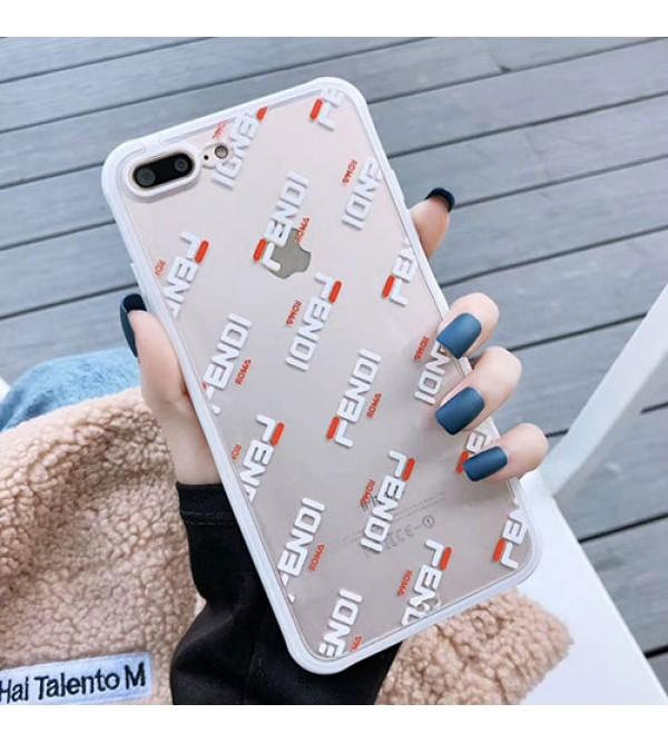 iphone 12 ケースフェンデイ iphone11/11pro max/se2ケースブランド FENDI iphone xr/xs maxケース お洒落透明アイフォン x/8/7 plusケースジャケット型ペアお揃い ファッション保護性