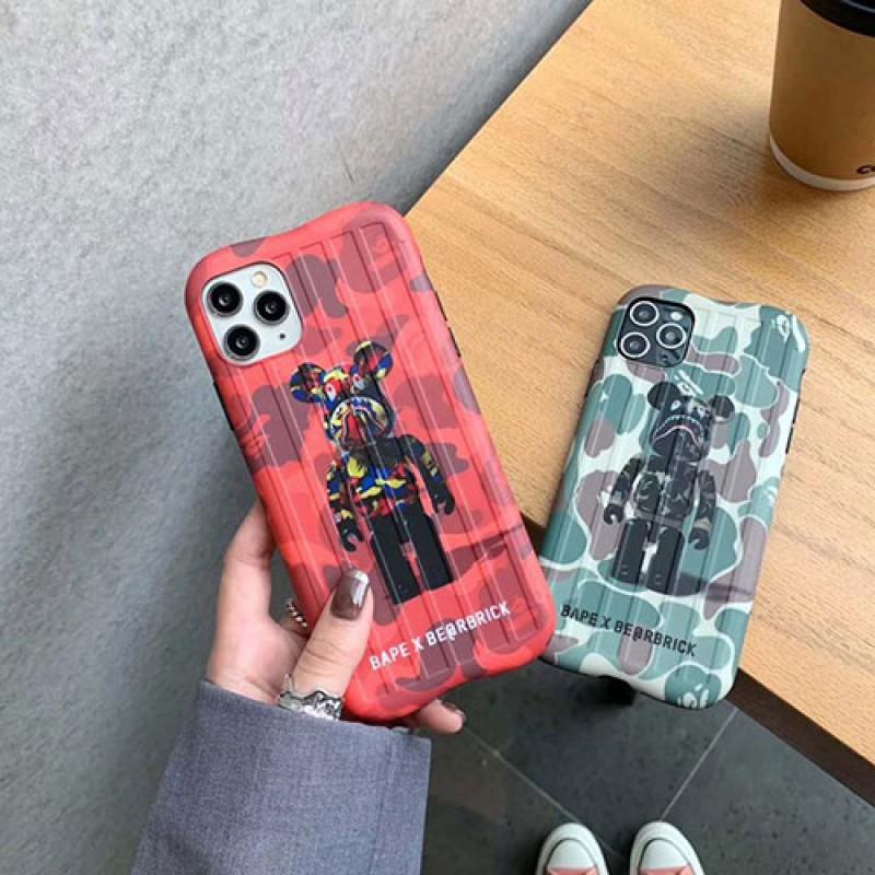 iphone 12 ケースBE@RBRICK BAPE  iphone11/11pro maxケース かわいいペアお揃い アイフォン11ケース iphone xs/x/8/7ケースiphone 11/x/8/7スマホケース ブランド LINEで簡単にご注文可ジャケット型 2020 iphone12ケース 高級 人気