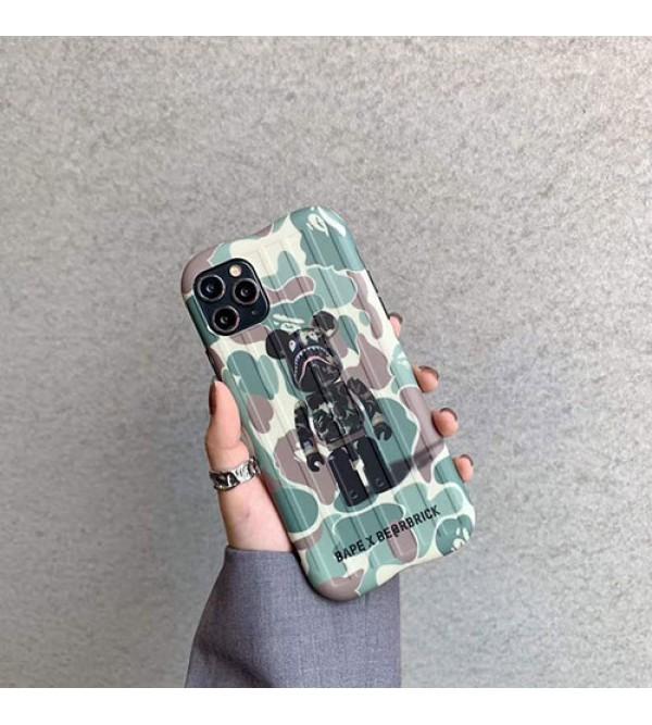 BE@RBRICK BAPE  iphone11/11pro maxケース かわいいペアお揃い アイフォン11ケース iphone xs/x/8/7ケースiphone 11/x/8/7スマホケース ブランド LINEで簡単にご注文可ジャケット型 2020 iphone12ケース 高級 人気