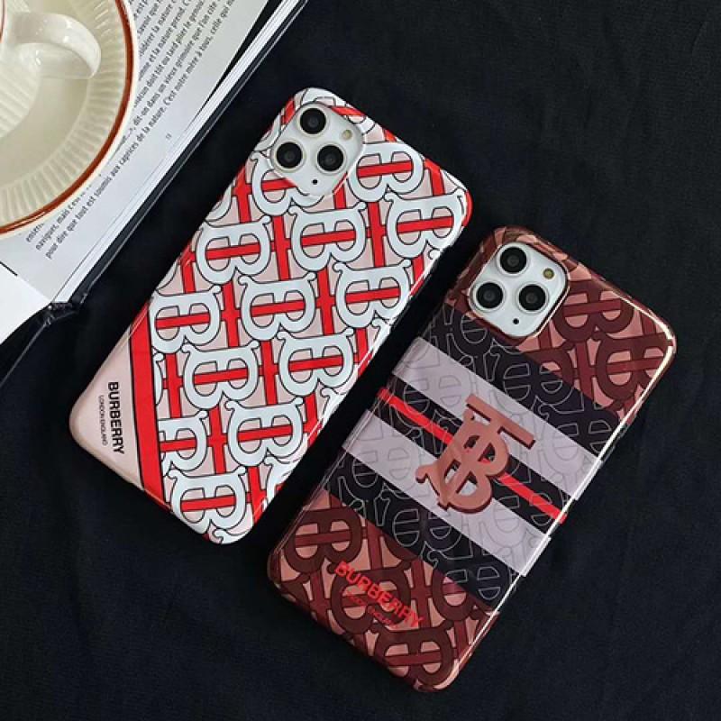 Burberry/バーバリーiphone 12ケースペアお揃い アイフォン11ケース iphone xs/x/8/7ケース男女兼用人気ブランドレディース アイフォンxs/11/8 plusケース おまけつきiphone x/8/7 plusケース大人気