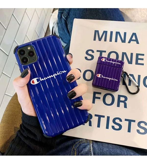 Champion女性向け iphone xr/xs maxケース男女兼用人気ブランドiphone 7/8 plus/se2ケースレディース アイフォン おまけつきモノグラム iphone11/11pro maxケース ブランド