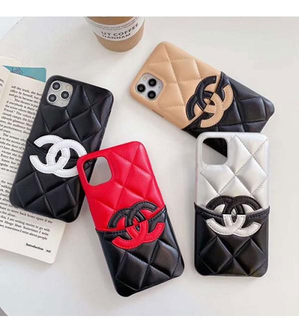 Chanel/シャネルペアお揃い アイフォン12/11ケース iphone xs/x/8/7plus/se2ケースシンプル  ジャケットレディース アイフォンiphone xs/11/8 plusケース おまけつきモノグラム iphone11/11pro maxケース ブランド