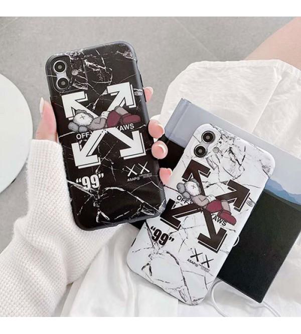 KAWS&OFF-WHITE女性向け iphone 11/xr/xs max/se2ケースファッション セレブ愛用 iphone12/11pro maxケース 激安iphone 11/x/8/7スマホケース ブランド LINEで簡単にご注文可シンプル