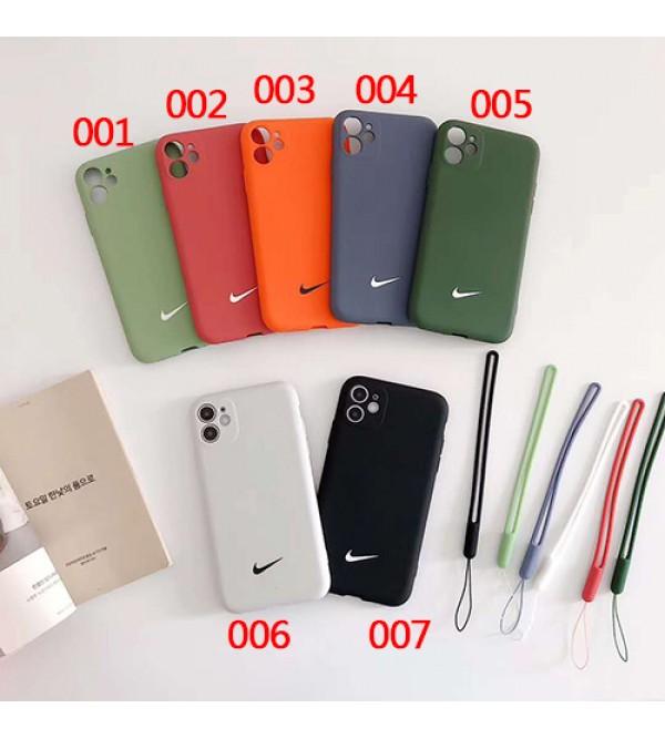 ナイキ/NIKE iphone 12ケース女性向け iphone xr/xs maxケース男女兼用人気ブランドiphone 7/8 plus/se2ケースビジネス ストラップ付きレディース アイフォンiphone 11/11 pro /11 pro maxケース おまけつき
