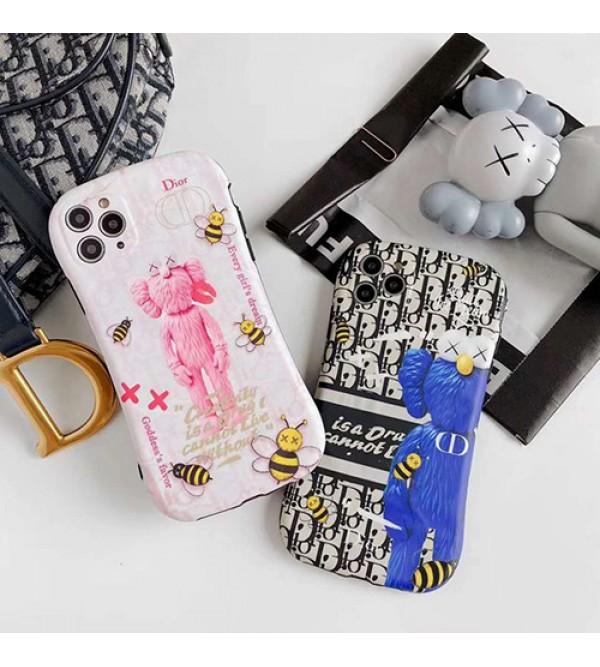 Dior ディオールiphone12ケースペアお揃い アイフォン11ケース iphone 8/7 plus/se2ケース男女兼用人気ブランドKaws iphone xs/x/xr/xs maxケースins風iphone 11/11 pro/11 pro maxケースケース かわいい大人気