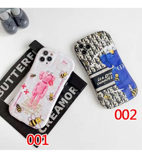 Dior ディオールペアお揃い アイフォン11ケース iphone 8/7 plus/se2ケース男女兼用人気ブランドKaws iphone xs/x/xr/xs maxケースins風iphone 11/11 pro/11 pro maxケースケース かわいい大人気