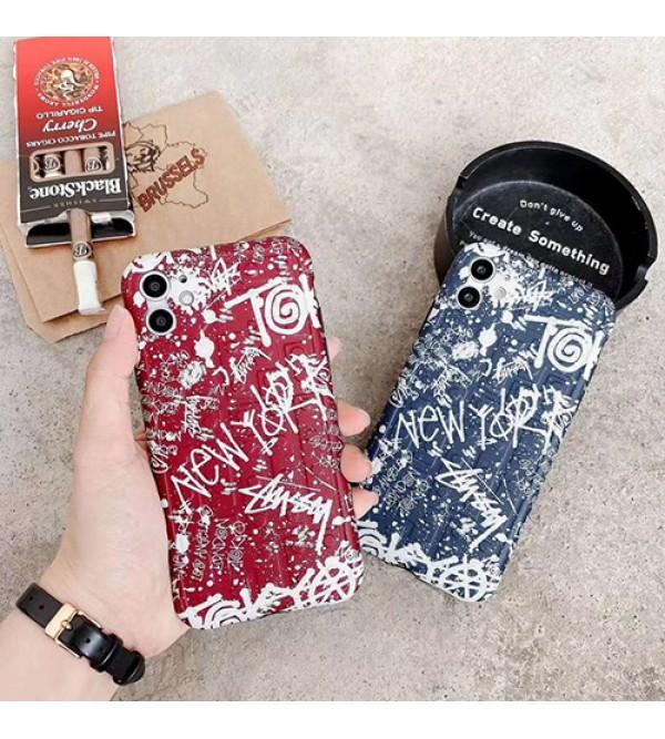 Stussy/ステューシーiphone12ケースブランド iphone7/8 plus/se2ケース かわいい個性潮 iphone x/xr/xs/xs maxケース ファッションメンズ iphone11/11pro maxケース 安い
