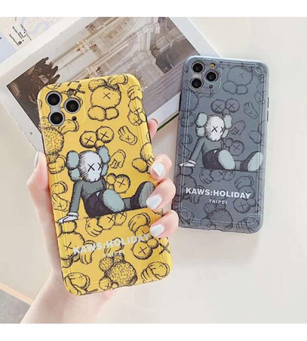 Kaws男女兼用人気ブランドiphone 12ケースiphone 7/8 plus/se2ケース個性潮 iphone x/xr/xs/xs maxケース ファッションメンズ iphone11/11pro maxケース 安いアイフォン12カバー レディース バッグ型 ブランド