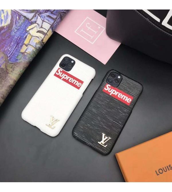 Supreme/シュプリーム2020 iPhone 12ケース ペアお揃い アイフォン11ケースlv/ルイ·ヴィトン iphone xs/x/8/7 plus/se2ケースビジネス ストラップ付きレディース アイフォンiphone xs/11/8 plusケース おまけつきジャケット型 iphone x/xr/xs/xs maxケース 高級 人気