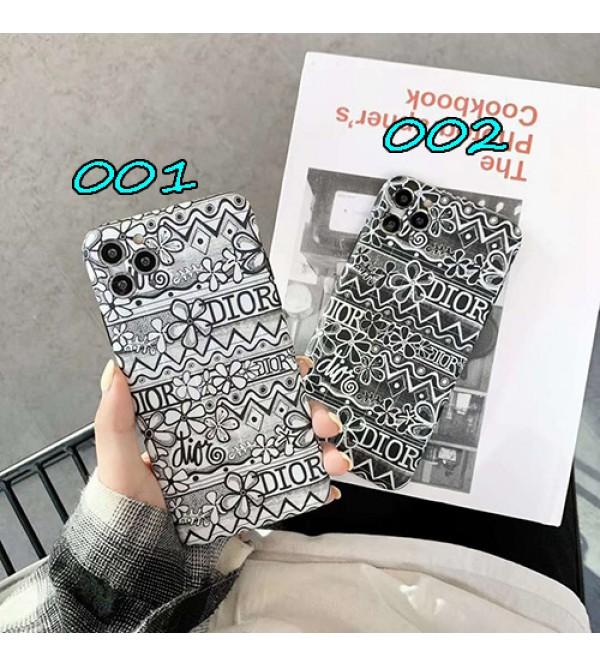 Dior ディオールペアお揃い アイフォン11ケースiPhone12 ケース男女兼用人気ブランドiphone xs/x/8/7plus/se2ケースメンズ iphone11/11pro maxケース 安い