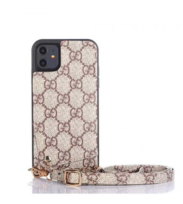 Gucci/グッチペアお揃い アイフォン11ケース iphone xs/x/8/7plusケースiphone 12ケース ビジネス ストラップ付きレディース アイフォンiphone xs/11/8 plusケース おまけつきモノグラム iphone11/11pro maxケース ブランド
