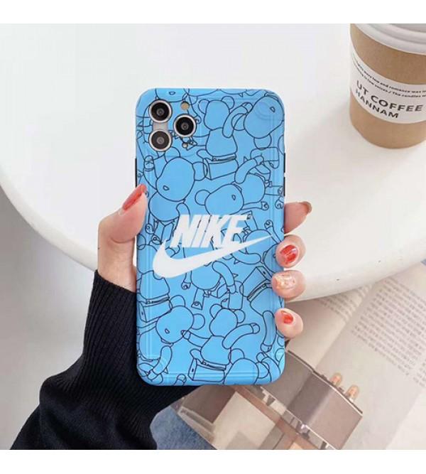 Nike/ナイキ女性向け iphone x/8/7 plus /se2ケースiphone 12ケースGLOOMY BEARブランドモノグラム iphone11/11pro maxケース ブランド iphone xr/xs maxケース大人気