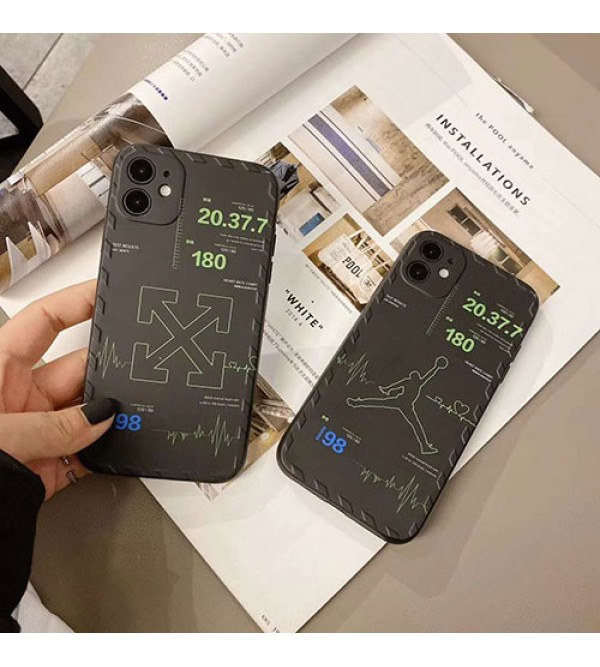 OFF WHITEペアお揃い アイフォン11ケース iphone xs/x/8/7/se2ケースJordan/ジョーダンメンズ iphone11/11pro maxケース 安いジャケット型 2020 iphone12ケース 高級 人気