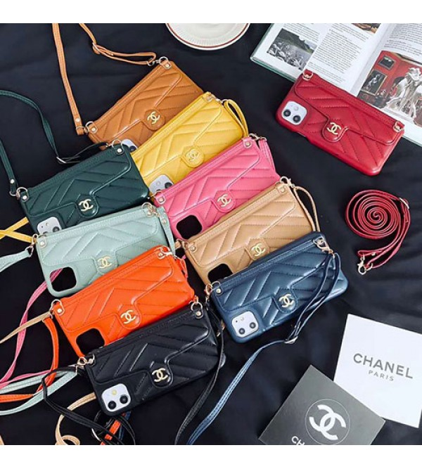 Chanel/シャネルiphone 12ケース ビジネス ストラップ付きアイフォンiphonex/8/7 plus/se2ケース ファッション経典 メンズ個性潮huawei mate 30 proケース ファッションアイフォン12カバー レディース バッグ型 ブランド