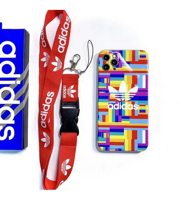 Adidas/アディダスiphone 12 pro maxケース ビジネス ストラップ付きiphone 11/x/8/7/se2スマホケース ブランド LINEで簡単にご注文可ジャケット型 2020 iphone12ケース 高級 人気