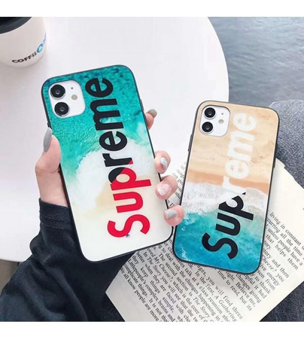 Supreme/シュプリームペアお揃い アイフォン12ケース iphone xs/x/8/7/se2ケースレディース アイフォンiphone xs/11/8 plusケース おまけつきiphone xr/xs max/11proケースブランドジャケット型 2020 iphone12ケース 高級 人気