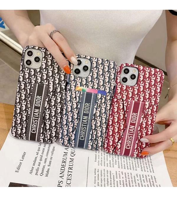 Dior ディオールIphone xr/12/12 pro maxケース ビジネス ストラップ付きアイフォンiphonex/8/7 plusケース ファッション経典 メンズレディース アイフォンiphone xs/11/8 plusケース おまけつき