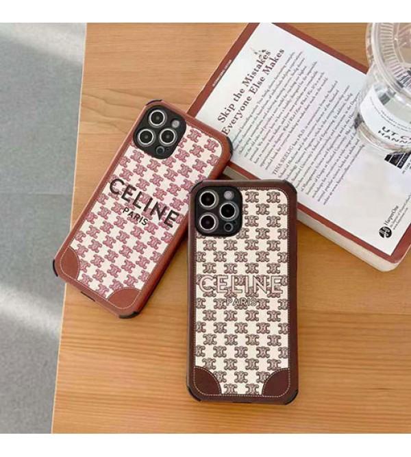 Celine/セリーヌ男女兼用人気ブランドiphone12/12mini/12pro/12promaxケースシンプル ジャケット iphone 11/x/8/7ケース ファッションiphone11 pro/11 pro max/xs/xr/xs maxケース 安い