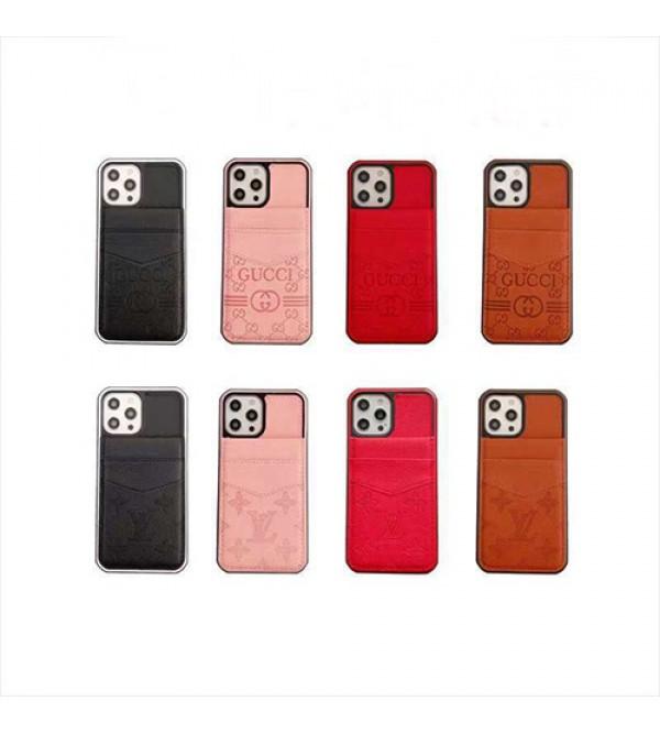 グッチ ブランド GUCCI iphone 13 mini/13 pro/13 pro maxケース スタンド機能  カード入れ 女性向け レザー ファッション経典 メンズ 安い アイフォン13/12sカバー レディース
