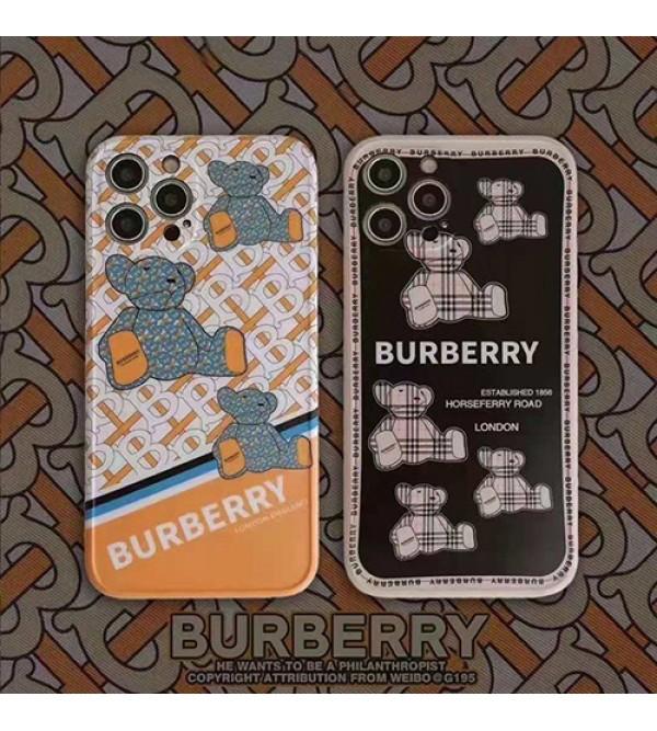 バーバリー ブランド iphone 13 pro/13 pro max/13miniケース 熊柄 ジャケット型 モノグラム BURBERRY 高級 iphone 13/12/11/x/xr/xs max/8/7 plusケース 大人気 メンズ レディース