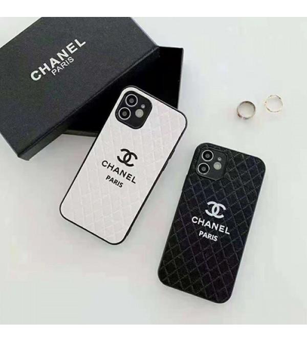 シャネル ブランド iphone 13/12s/13 pro max miniケース  贅沢 レザー風 CHANEL ジャケット型 黒白色 アイフォン13/12/11/x/8/7カバー レディース