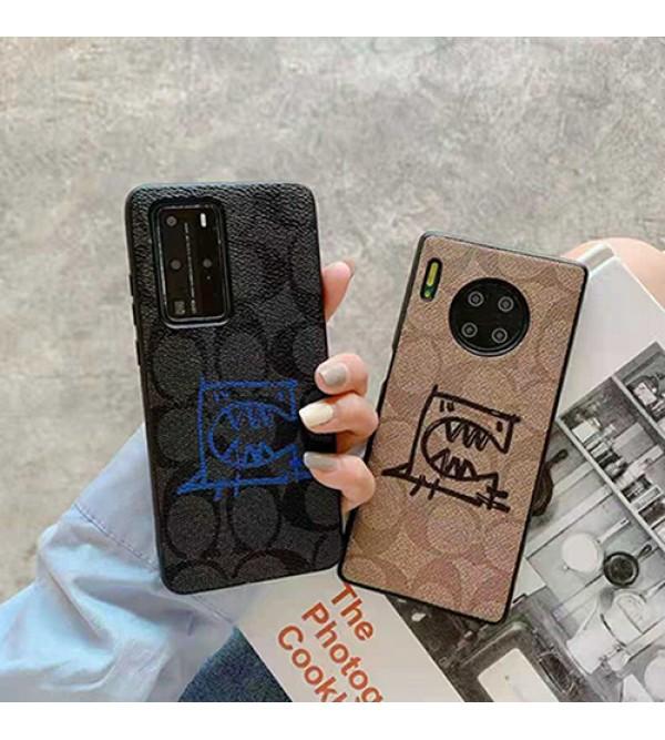 coach/コーチ ブランド iphone 13mini/13 pro/13 pro maxケース お洒落 恐竜柄 個性 インスタ風 アイフォン13プロカバー ファッション HUAWEI メンズ レディーズ