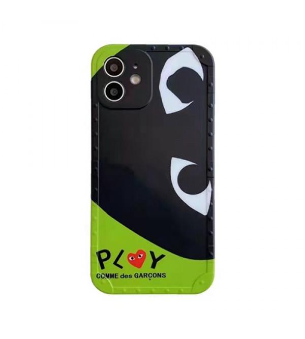 COMME des GARCONS ブランド CDG iphone13/12s/12mini/12pro/12pro maxケース ins風 川久保玲 PLAY コムデギャルソン かわいい アイフォンx/xs/xr/8/7カバー ジャケット型 メンズ 安い レディース おまけつき 大人気