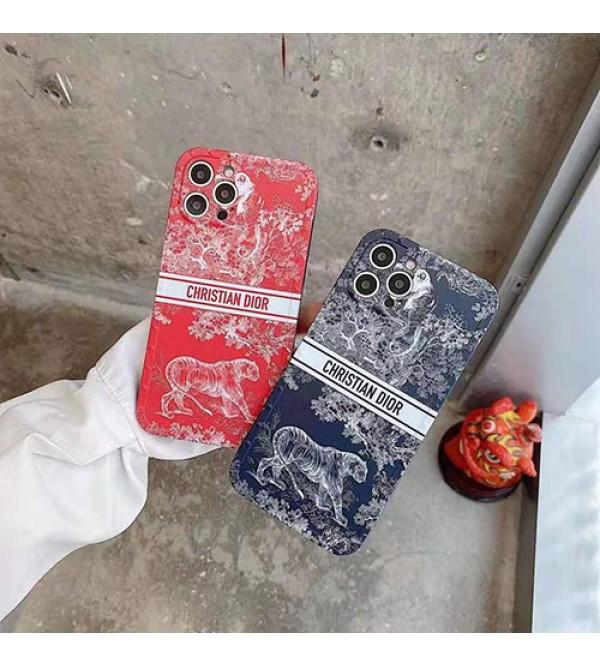DIOR ディオール iphone13/12s/12 pro/12 pro max/12 miniケース 経典 虎猿柄 シンプル ジャケット型 アイフォン12/11 pro max/x/xs/xr/8/7カバー ファッション おまけつき メンズ レディース