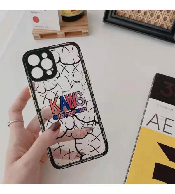 KAWS ブランド iphone12/12mini/12pro/12pro maxケース アイフォン12/xs/11/8 plusケース おまけつき ファッション メンズ レディース