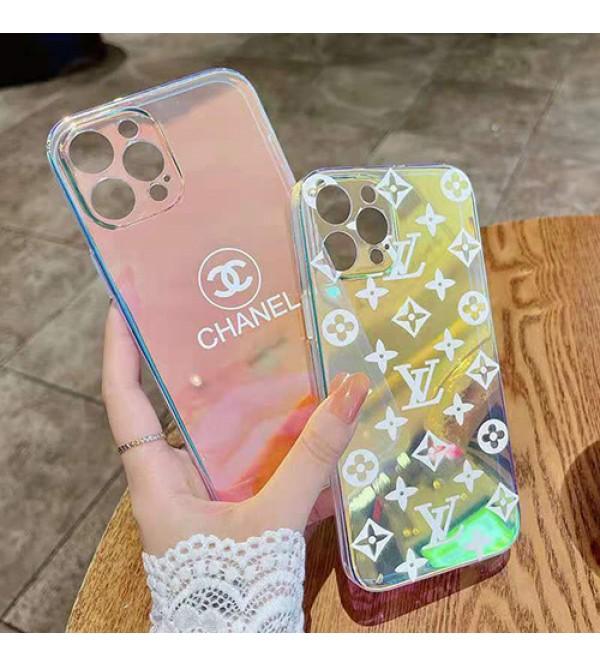 Chanel/シャネル iphone 13/12s/12 mini/13 pro/13 pro maxケース ハイブランド ルイヴィトン/LV 経典 キラキラ ジャケット型 メイク機能 クリアケース おまけつき ファッション アイフォン13ミニ/13プロマックスケース 大人気 メンズ レディース